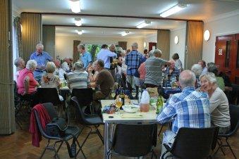 Members enjoying the BBQ evening