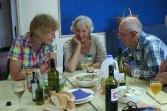 Danbury Wine Circle members chatting at the 2017 Summer BBQ